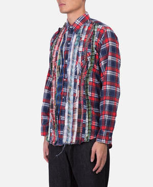 Needles Rebuild Flannel Shirt (Red)