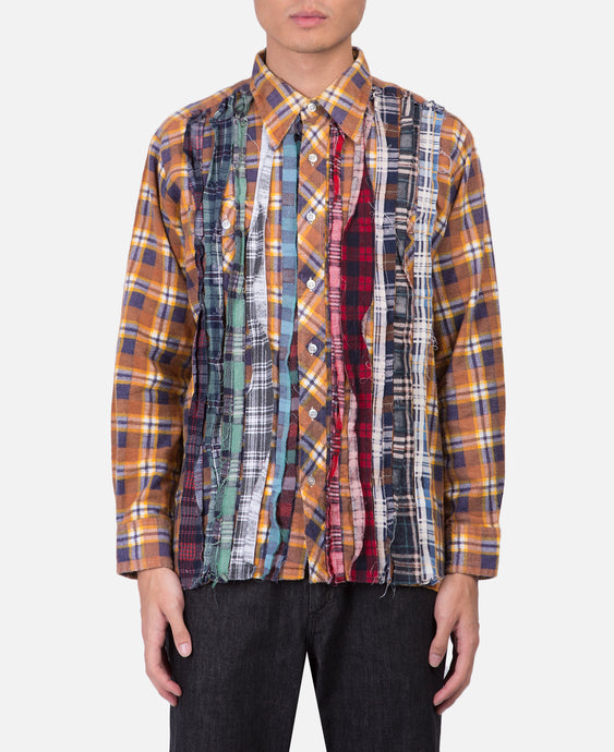 Needles Rebuild Flannel Shirt (Yellow)