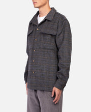Plaid Shacket (Black)