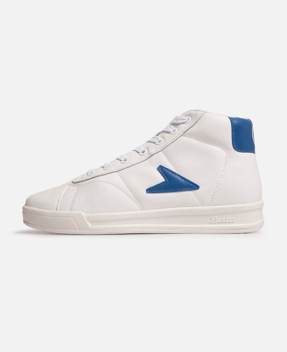 John Wooden High Top Blue Logo Leather