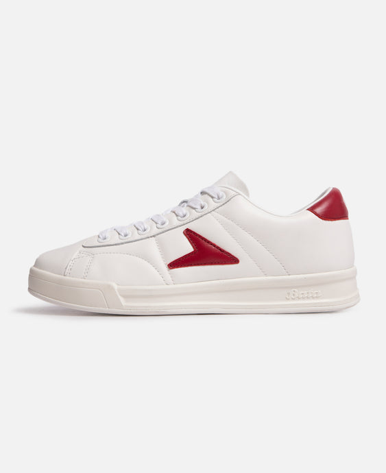 John Wooden Low Top Burgundy Logo Leather