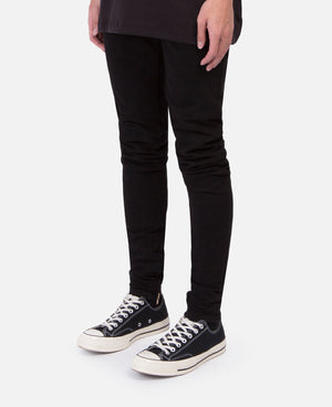 Black Stretch Selvedge Denim Jean