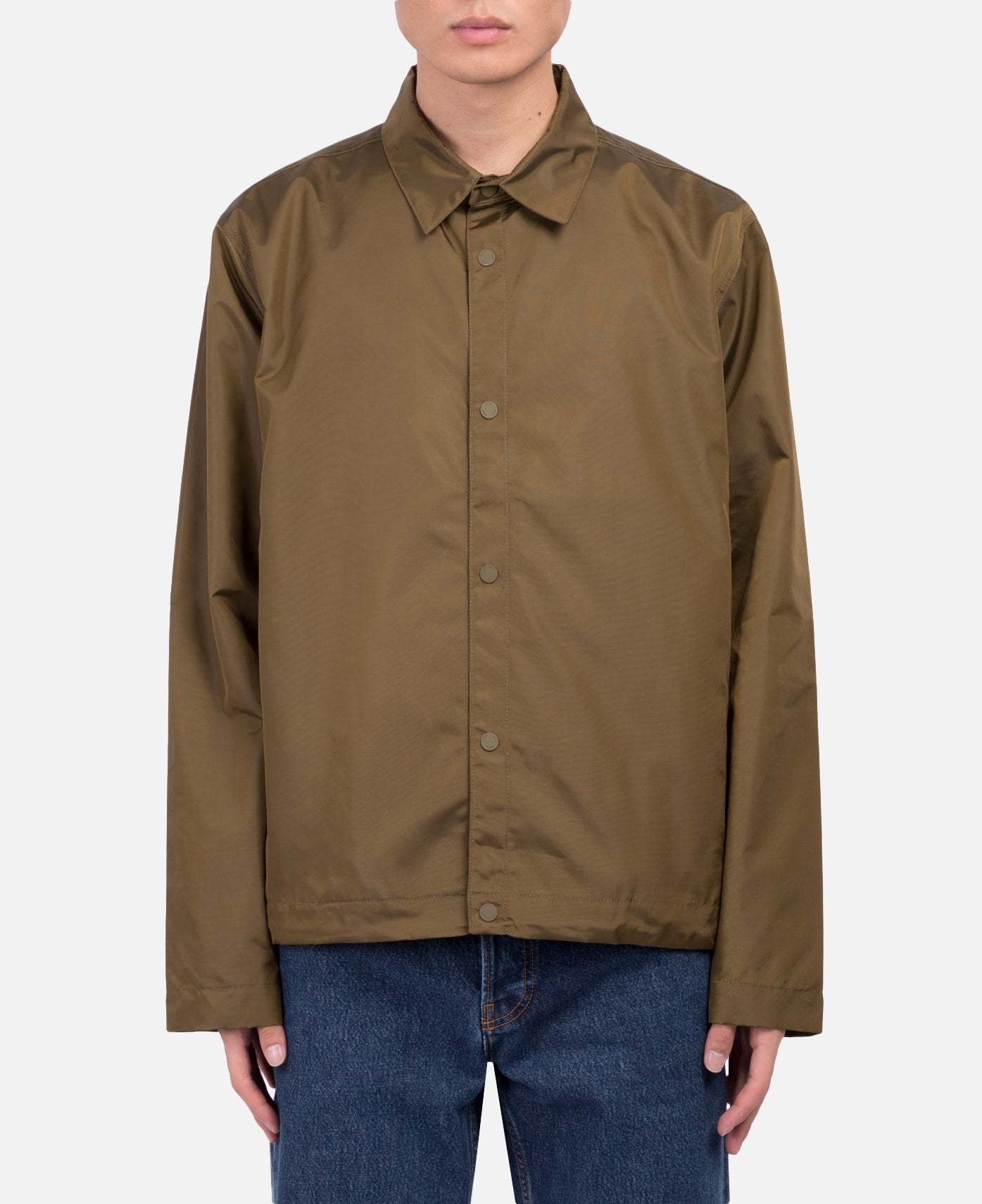 Svend Nylon Oxford Jacket (Sitka Green)
