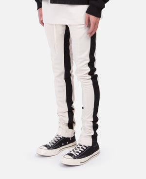 White Double Stripe Track Pants