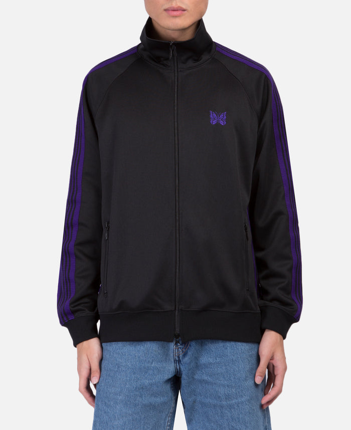 Black Poly Smooth Track Jacket