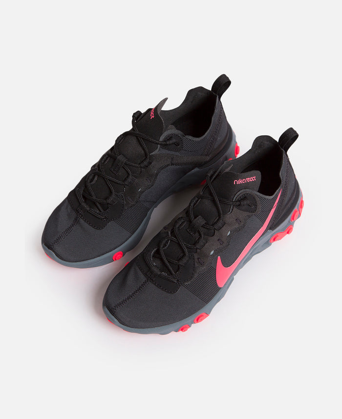 Womens Nike React Element 55 (Black/Red)