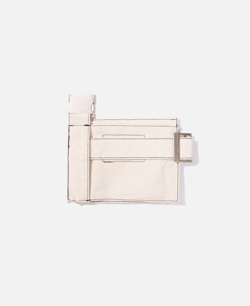 Canvas Utility Bag (Natural, White & Black)