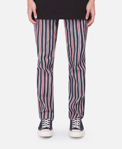 Striped Denim Pants