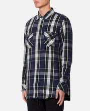 Lawyer Long Shirt Cotton Twill Plaid