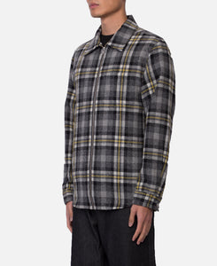 Zipped Plaid Shirt