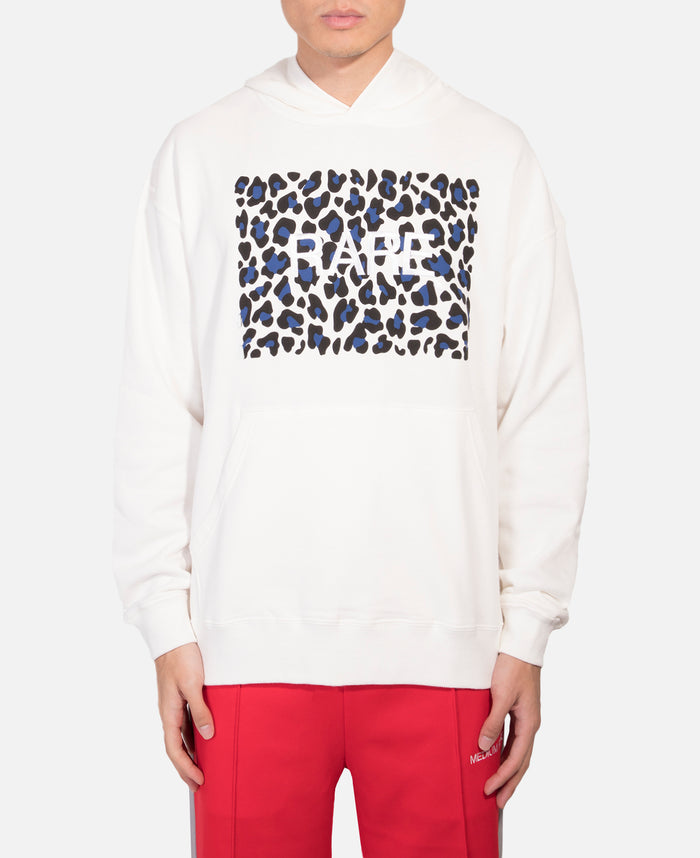 Relax Hoodie With Leopard Print (White)