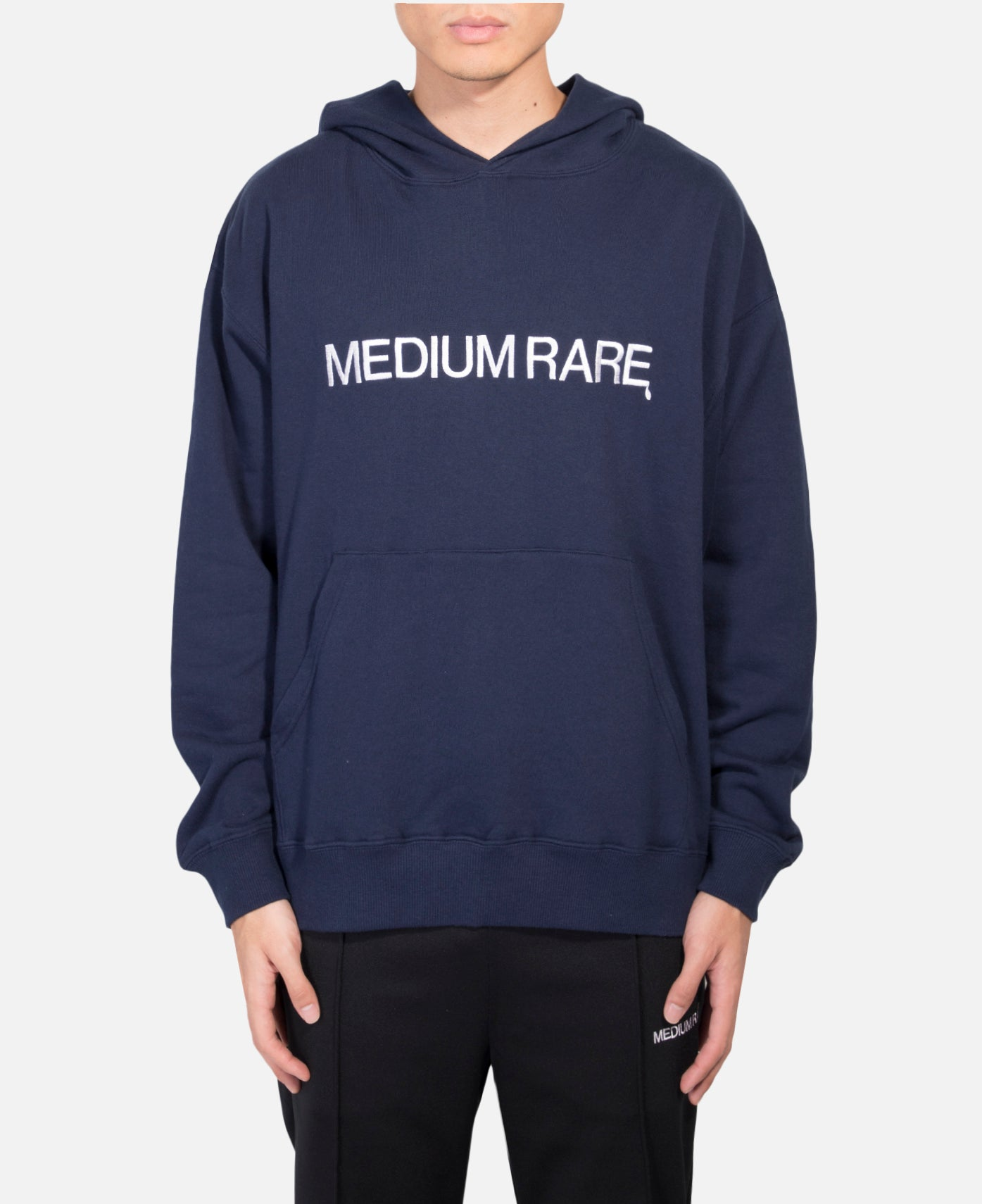 Relax Hoodie With Embroidery (Navy)