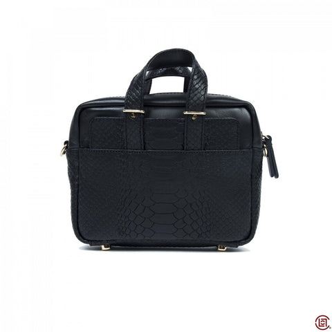 MINI BRIEFCASE (BLACK CROC)