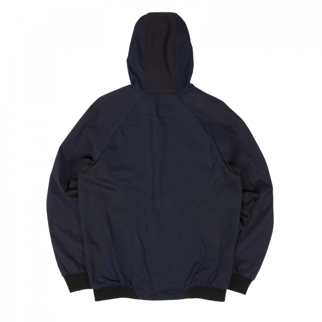 COMBO HOODED JACKET (NAVY)
