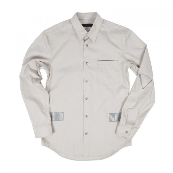 REFLECTIVE TAPE CUT-OUT SLEEVE SHIRT (CREAM)
