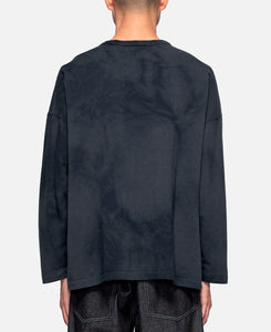 Deep Concentration Tie Dye L/S T-Shirt (Black)