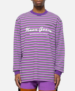 Patricia Stripe L/S T-Shirt (Purple)