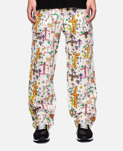 Oaf All-Over Print Cargo Trouser (White)