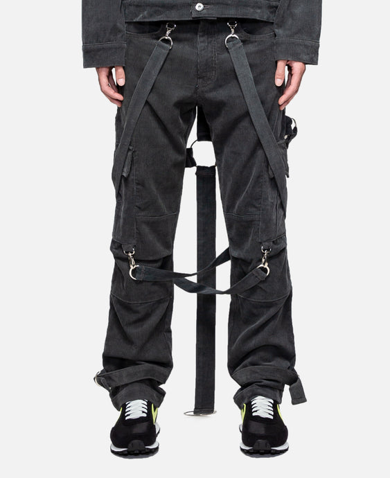 Corduroy Crucifix Bondage Trouser (Grey)