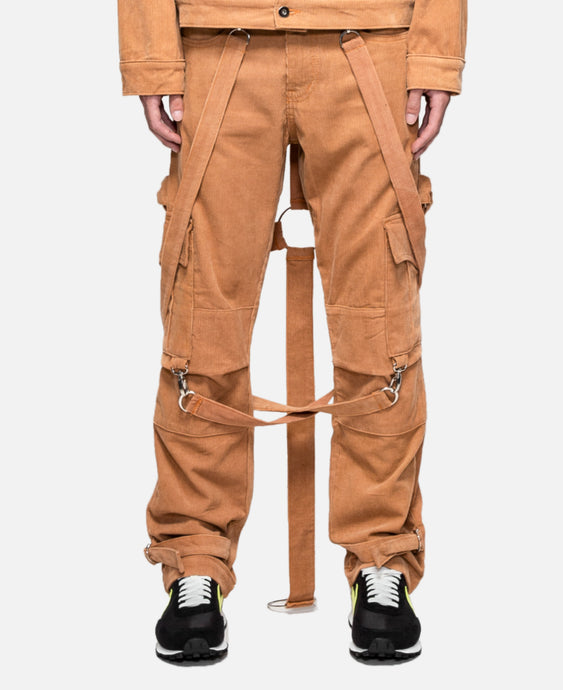 Corduroy Crucifix Bondage Trouser (Brown)