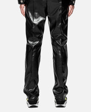 Printed Faux Leather Elastic Trouser (Black)