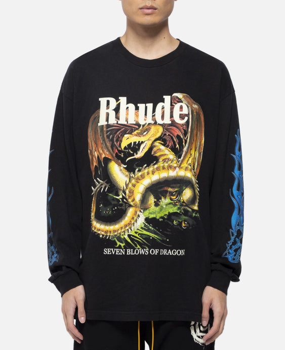 'Red Dragon' L/S T-Shirt (Black)