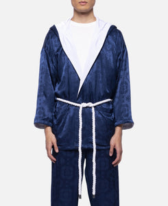 Silk Robe (Navy)