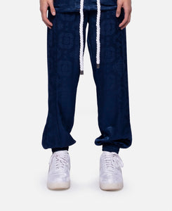 Silk Track Pants (Navy)