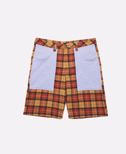 Contrast Plaid Shorts