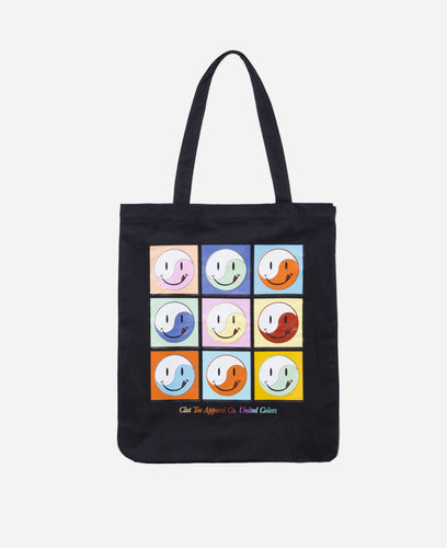 Smiley Tote Bag (Black)