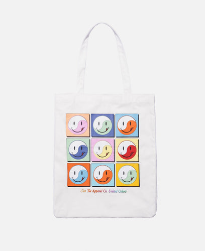 Smiley Tote Bag (White)