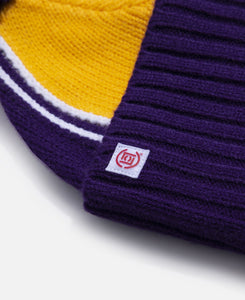 Lakers Knit Jacquard Beanie