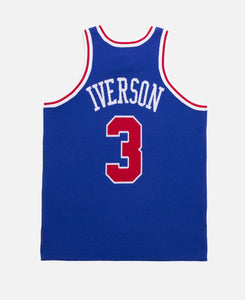 Iverson 76ers 96-97 Knit Jacquard Jersey