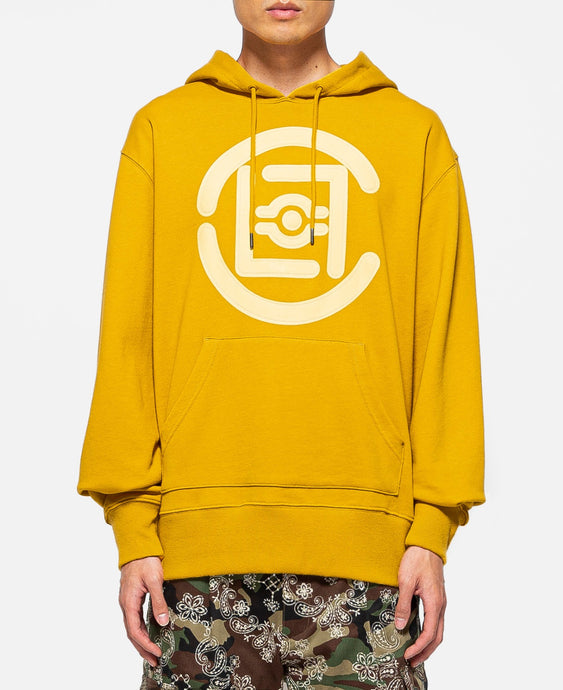 Fifth Elemental CLOT Logo Appliqué Pullover Hoodie (Yellow)