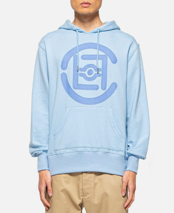 Fifth Elemental CLOT Logo Appliqué Pullover Hoodie (Blue)
