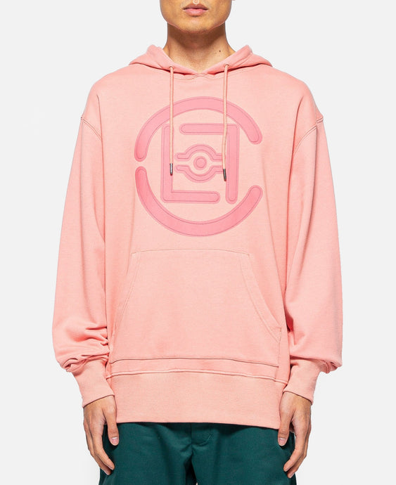 Fifth Elemental CLOT Logo Appliqué Pullover Hoodie (Pink)