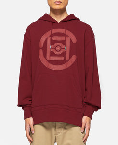 Fifth Elemental CLOT Logo Appliqué Pullover Hoodie (Red)
