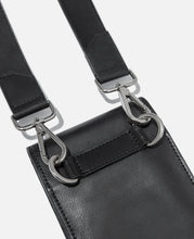 Leather Crossbody Bag (Black)