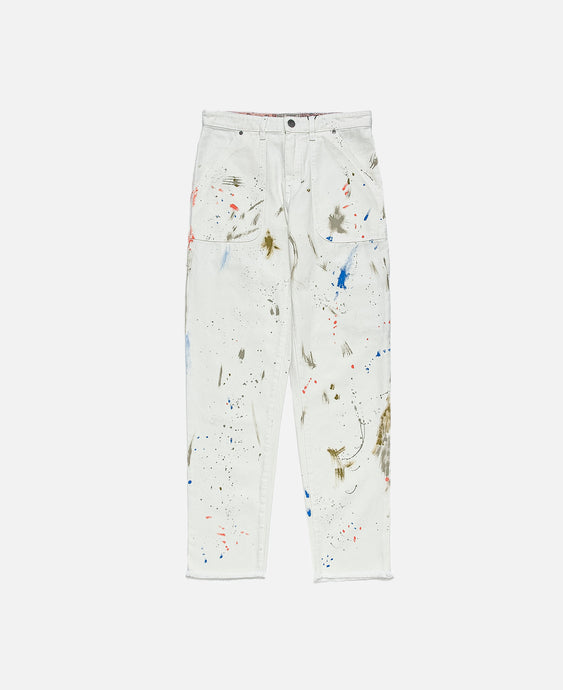 Guess Alchemist Paint Pants (White)
