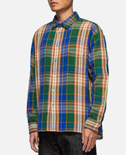 Heavyweight Barbed Wire Back Flannel (Green)