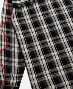 Heavyweight Barbed Wire Back Flannel (Black)