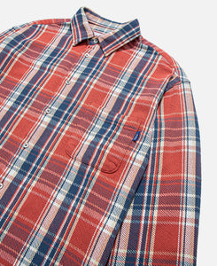 Heavyweight Barbed Wire Back Flannel (Red)