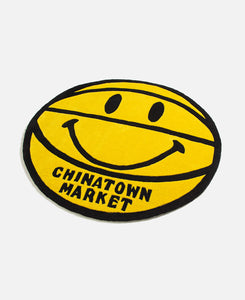 Smiley Basketball Rug 4 Ft (Yellow)