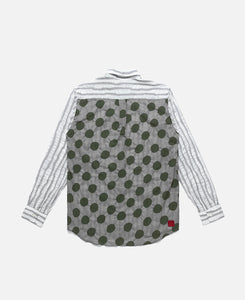 Button Up Blocking Shirt (Grey)