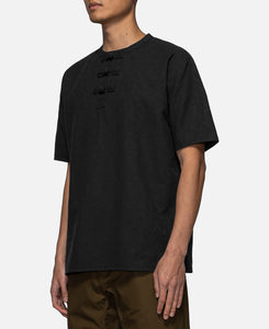 Chinese Henley T-Shirt (Black)