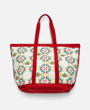 Chinese Print Tote Bag (White)