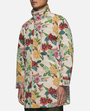Floral Trench Coat (White)