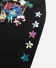 Flowers Print L/S T-Shirt (Black)