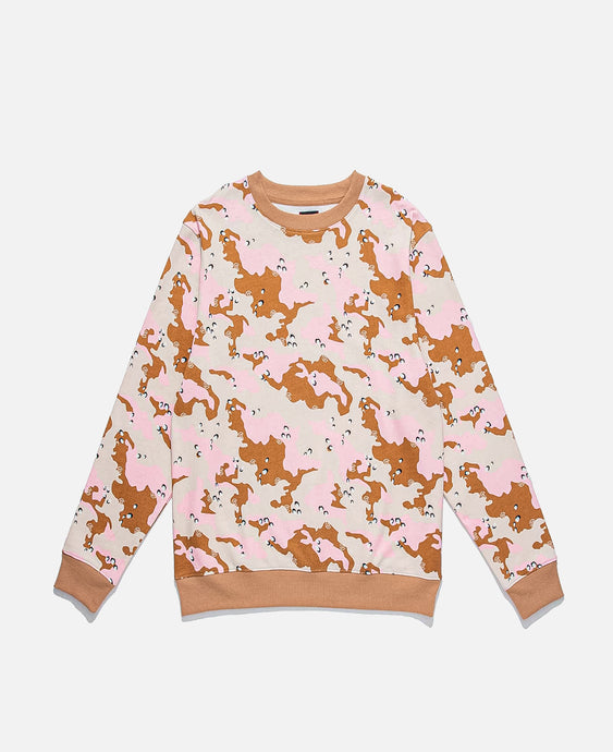 Ice-Cream Camo Crewneck Sweat (Khaki)