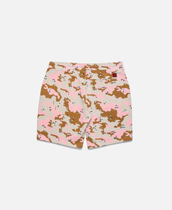 Ice-Cream Camo Sweat Shorts (Khaki)